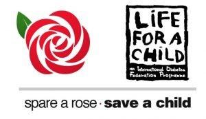 spare a rose, save a child logo